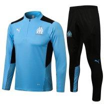 Mens Olympique Training Suit Light Blue 2021/22