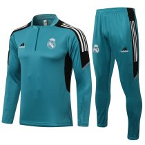 Mens Real Madrid Training Suit Green 2021/22