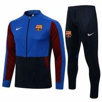 Mens Barcelona Jacket + Pants Training Suit Blue - Black 2021/22