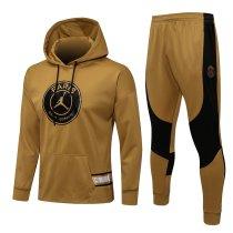 Mens PSG x JORDAN Hoodie Sweatshirt + Pants Suit Gold 2021/22