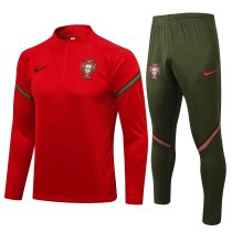 Mens Portugal Training Suit Red 2021/22