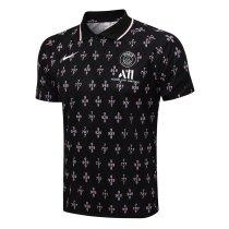 Mens PSG Polo Shirt Black Digits 2021/22