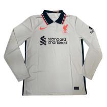 Mens Liverpool Away Jersey Long Sleeve 2021/22