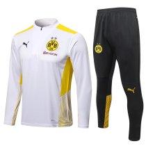 Mens Borussia Dortmund Training Suit White 2021/22