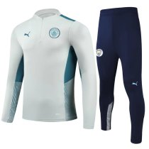 Mens Manchester City Training Suit Light Grey 2021/22