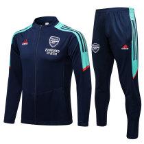Mens Arsenal Jacket + Pants Training Suit Navy 2021/22
