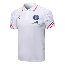 Mens PSG x Jordan Polo Shirt White Slash 2021/22