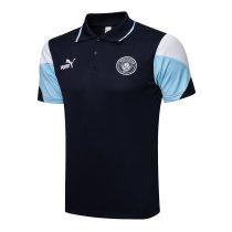 Mens Manchester City Polo Shirt Navy 2021/22