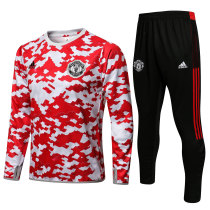 Mens Manchester United Training Suit Red - White 2021/22