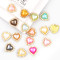2017 10 Pieces   Mixed Color 15mm Heart Pearl Button Brass 22x23mm Gold Metal Tray Rhinestone Cabochon Base Cameo Setting DIY Jewelry Charms