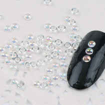 200Pcs 3mm Crystal AB Resin Half Round