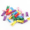 Wholesale 50Pcs 7x25x3mm New Small Mini Size Mix Color Natural Wooden Pegs Birthday Baby Shower Craft Clips Clothespin Favour New Wedding Decoration