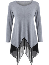 Black Spring Latest Women's Cotton Long T-shirt Long Sleeves Woman Top G029
