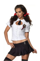 Wholesale cute school girl Costumes HS8725