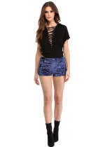 Blue Short Style Hot Pants NWY8226B
