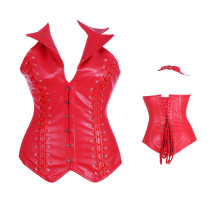 Red leather corsets ME2833R