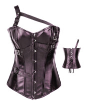 Brown leather corsets with straps ME2917B