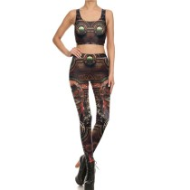 Sexy Two Pieces Yoga Set(pant+vest) NDB1716-03054