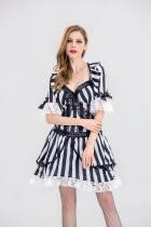 Spina Sexy Stripes Vampire Dress Costumes HS9021