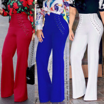 Halter Sexy Solid Color Loose Pants NWY8394