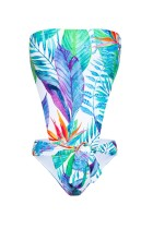 Deep V-neck Backless Flower Printed One Piece Bikini LR1801