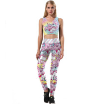 Sexy Two Pieces Yoga Set(pant+vest) NDB3059 -1140