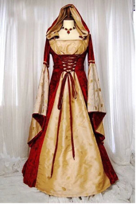 Vintage European Court Halloween PROM Queen Dresses HS8706-1