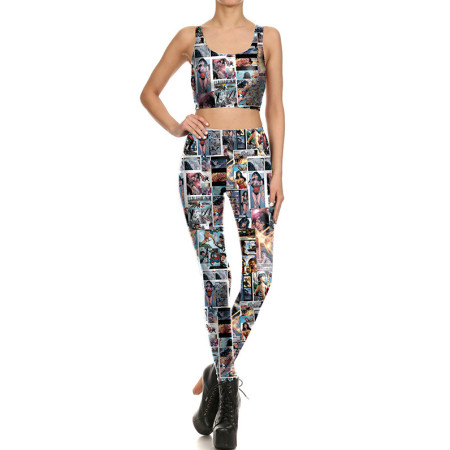 Sexy Two Pieces Yoga Set(pant+vest) NDBK1684-3027