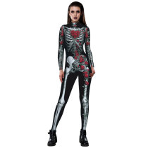 Woman Skeleton Printed  Sexy One Piece Jumpsuit & Romper  BAX008