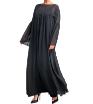 Black Long Style Muslim Dress SR0801