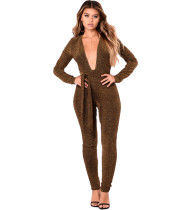 Sexy Lace V-Deep Hot Style One Piece Jumpsuit & Ropmers SJ3061