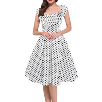 Wave Point Printed Woman Dress SR1456