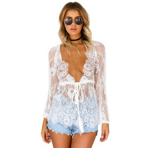 Sexy Lace V-Deep Tassel Woman Top SR0320