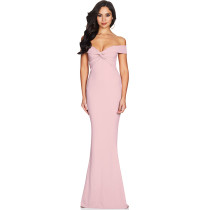 Sexy Pink Mermaid Evening Dress SR1196