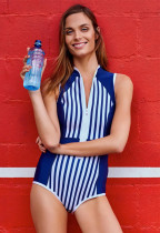 Stripes Printed One Piece Swimsuit LR1831