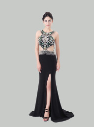 Advanced Customization Handmade Slit  Party Dresses