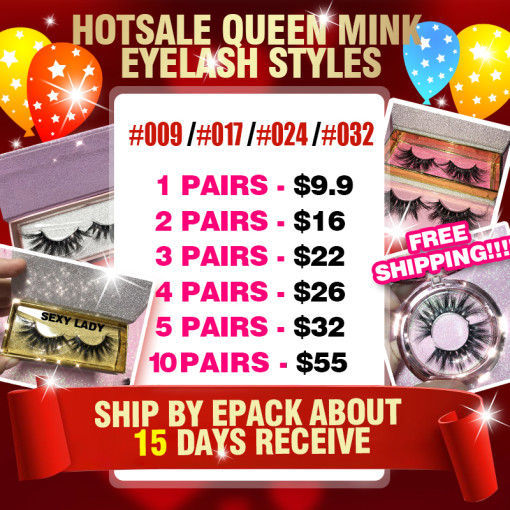 Queen mink eyelashes HOTsale style
