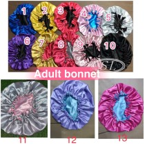 Adult double layer bonnets