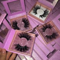 Square glitter box mink eyelashes