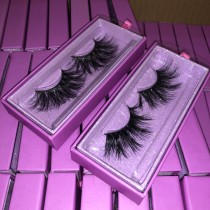 Light purple box lashes