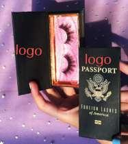 print logo black box lashes