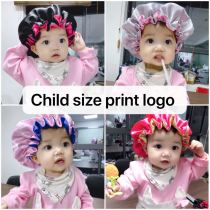 Print logo kid double layer bonnets