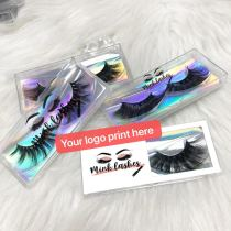 Print logo best 4D5D lashes deal for regular box