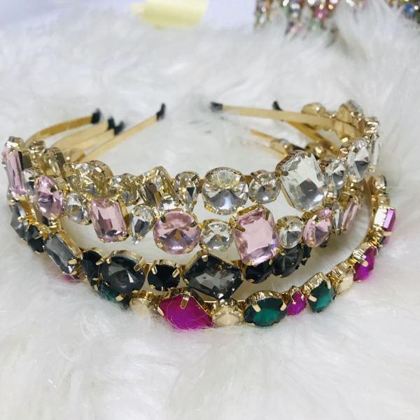 Diamond metal headband