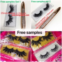 free samples sets lashes and glue pen