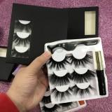 3pairs Book with glue&tweezers