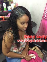 Raw Deep curly  hair