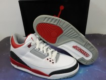 Authentic Air Jordan 3 Fire Red