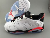 Authentic Air Jordan 6 Low White Infrared GS