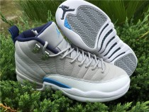 Authentic Air Jordan 12 GS Grey Blue